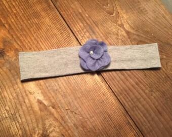 pale blue flower headband