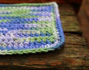 Crocheted Cotton Washcloth - Small