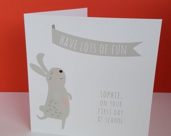 Bunny Good Luck Card Shool/college/university