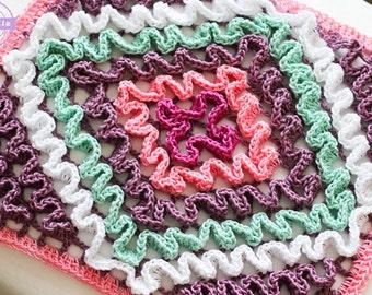 Betty's Ruffled Crochet Trivet Pattern pdf instant digital download