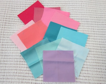 Twelve Pack of 1930's Cotton Sateen Swatches