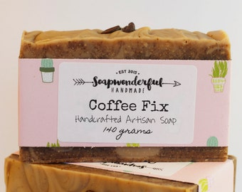 Coffee Fix Exfoliating Cocoa Butter Cold Process Soap Bar