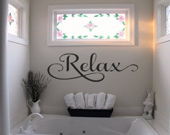 Vinyl Wall Decals Relax Etsy - Wall decals relax