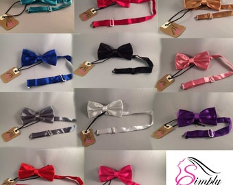 Mens Handmade Satin Polyester Bow Tie