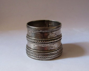 Antique silver cuff bangle