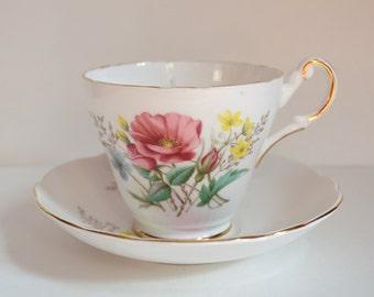 Pink Floral Vintage Teacup Candle