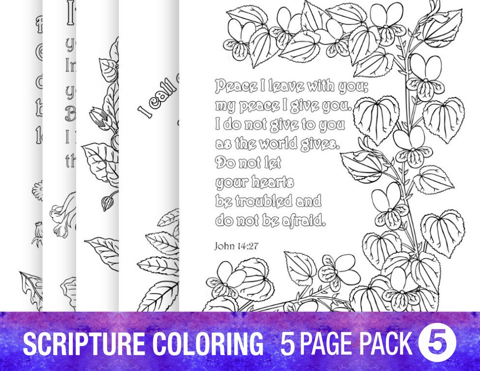 5 bible verse coloring pages floral inspirational quotes adult