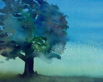 Lightning bugs ~ an original watercolor painting
