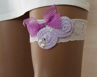 garter, toss garters, lilac, ivory  lace,    wedding garters,    bridal accessores,   garter suspander,    free shipping!