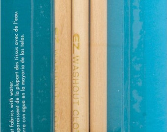 Blue Pink White Washout Pencils Value 3 Pack