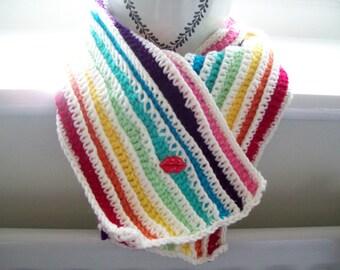 Crochet Scarf Rainbow colours