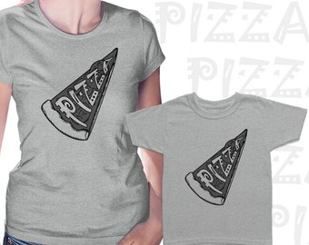 Pizza Mom and Kid Matching t shirts, Funny set gift idea, Mother and child mattching shirts, Gift for mom