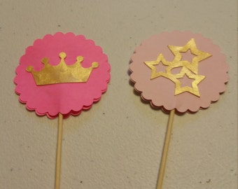 Princess cup cake toppers set of 12.