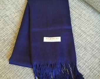 Navy Pashmina scarf