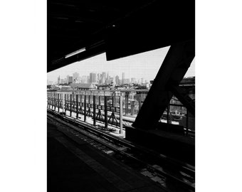 Black and White Urban City Scape, New York Photograph