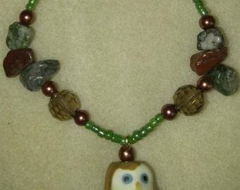Natural Owl Bracelet
