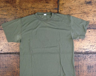Vintage Military Issue Tee OD Green Olive