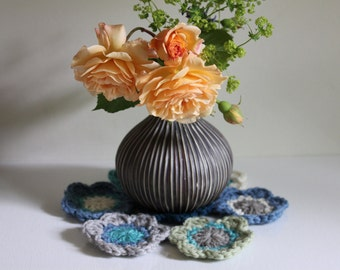 Pair of Crocheted Mats, Coasters, Dining Table Decorations, Table Accents