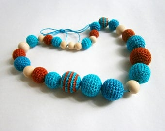 "Slingobusy ""Turquoise and terracotta"""
