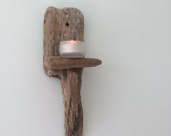 Driftwood Tea Light Sconce