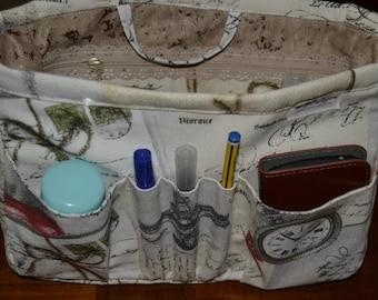 Purse insert organizer/Fabric Bag organizer/Insert handbag organizer/ Purse Organizer