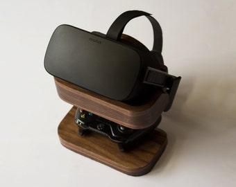 Wooden oculus rift stand