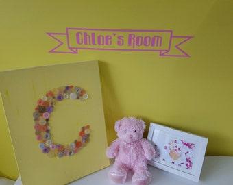 Custom Kid's Room Vinyl Wall Art Sticker / Decal! - Sticks right onto the wall!