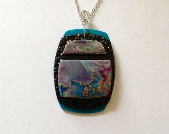 Abalone inspired pendant