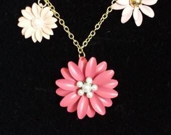 3 Charm Floral Necklace