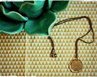 "Golden hammered Bead Necklace ""Lisboa"""