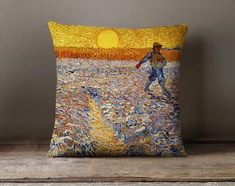 Wheat Field Van Gogh Art Painting Pillowcase | Decorative Throw Pillow Cover | Cushion Case | Designer Pillow Case | Birthday Gift Idea