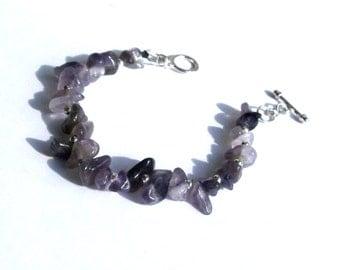 Amethyst Bracelet, Womens Purple Bracelet, Amethyst Jewellery, purple jewellery, womens gemstone bracelet, purple bead bracelet,