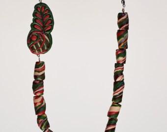 Playful Twisties _ red greens