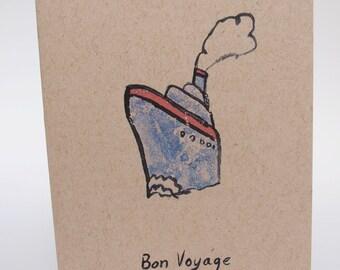 Greeting Card-  Bon Voyage