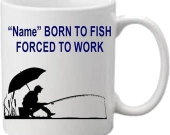 Fishing Mug, Personalised