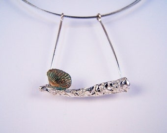 Silver necklace, the collection of sea foam,