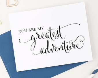 Wedding Card Your Bride or Groom, You Are My Greatest Adventure card, To my Groom on our wedding day, To my Bride on our wedding day, WCP02