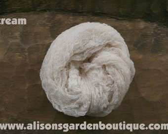 Cream Cheesecloth Baby Wrap