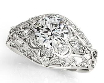 Edwardian Engagement Ring, Edwardian Vintage Engagement Ring, Vintage Engagement Ring, Vintage Diamond Engagement Ring