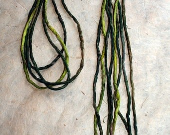 Hand-dyed silk cords