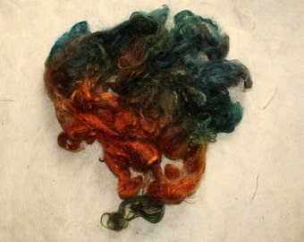 Hand-dyed Wensleydale locks