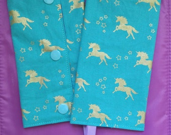Unicorn Baby Carrier Drool Pads