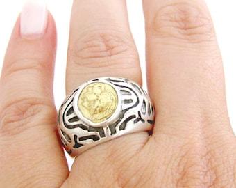 Silver coin ring - Artisan - Coin ring - Ancient Greek