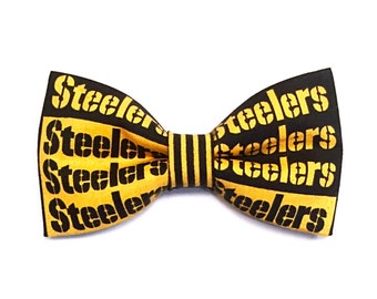 Steelers Bow Hair Clip or Headband
