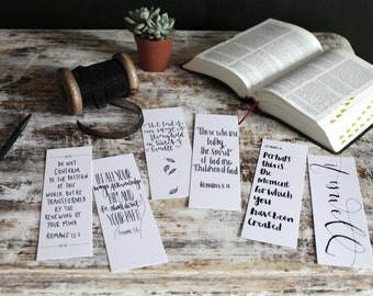 Downloadable Bible Verse Bookmarks (SET OF SIX)