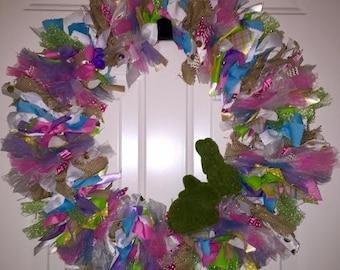 "Easter ribbon wreath 20"""