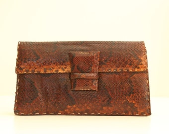 Vintage Handmade Python Clutch