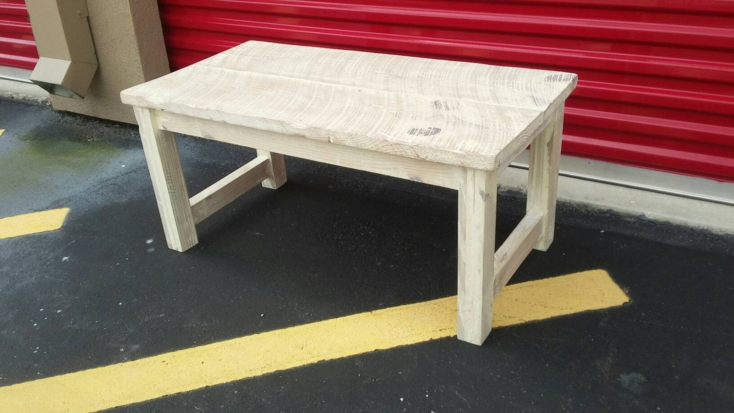 Cottage Style Small Coffee Table Shabby Chic White Distressed