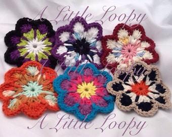 Flower Coasters set of 4