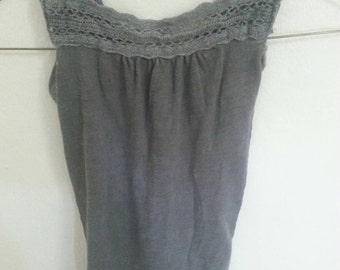 Handmade toddler girls recycled charcoal dress